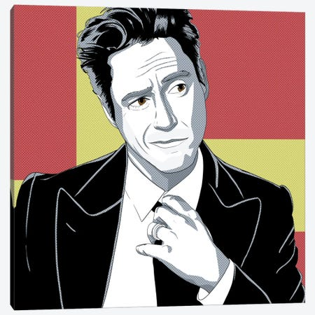 Smug RDJ #2 Canvas Print #ICA1178} by 5by5collective Canvas Art Print