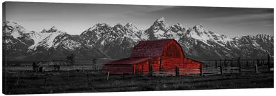 Barn Grand Teton National Park WY USA Color Pop Canvas Art Print