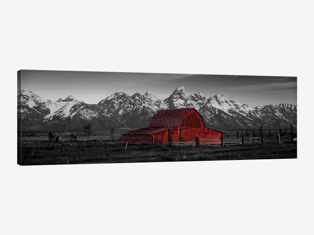 Barn Grand Teton National Park WY USA Color Pop by Panoramic Images 1-piece Art Print
