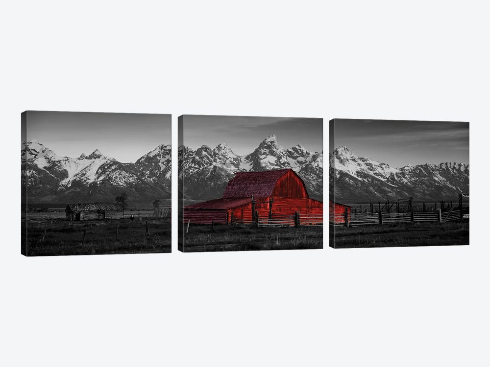 Barn Grand Teton National Park WY USA Color Pop by Panoramic Images 3-piece Canvas Print