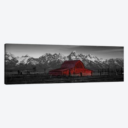 Barn Grand Teton National Park WY USA Color Pop Canvas Print #ICA1181} by Panoramic Images Canvas Wall Art