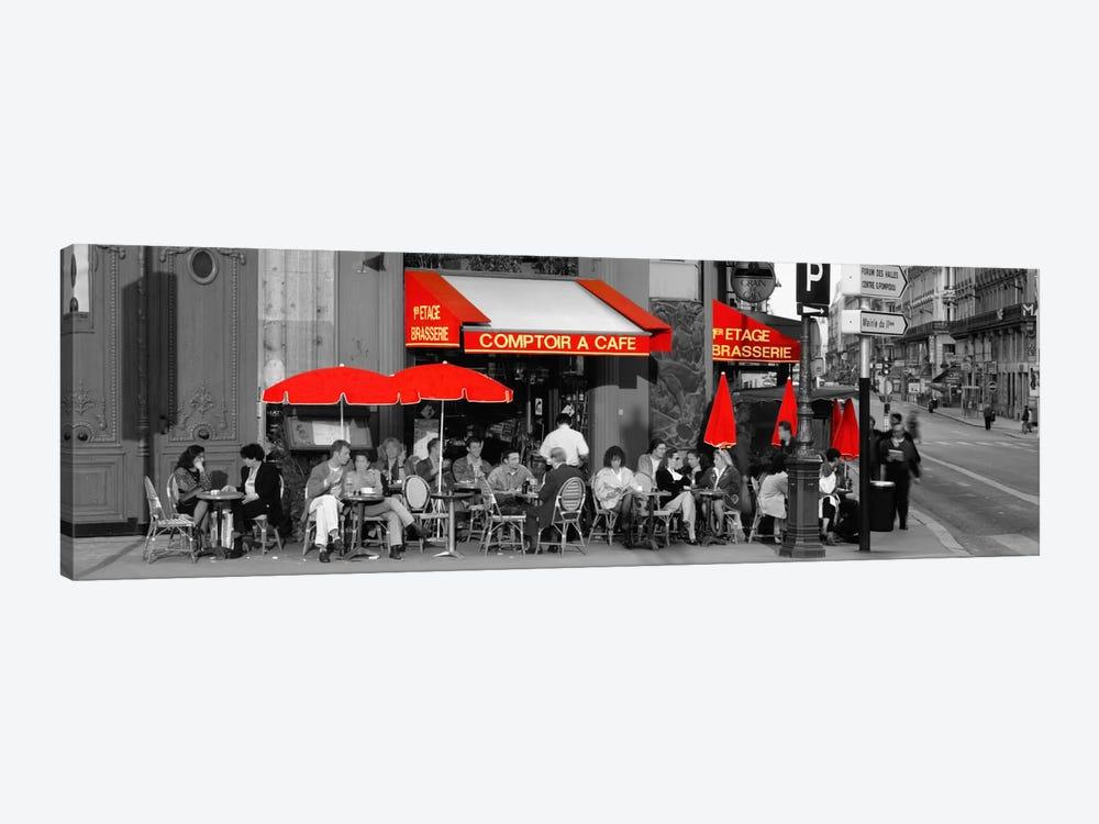 Cafe, Paris, France Color Pop by Panoramic Images 1-piece Canvas Art