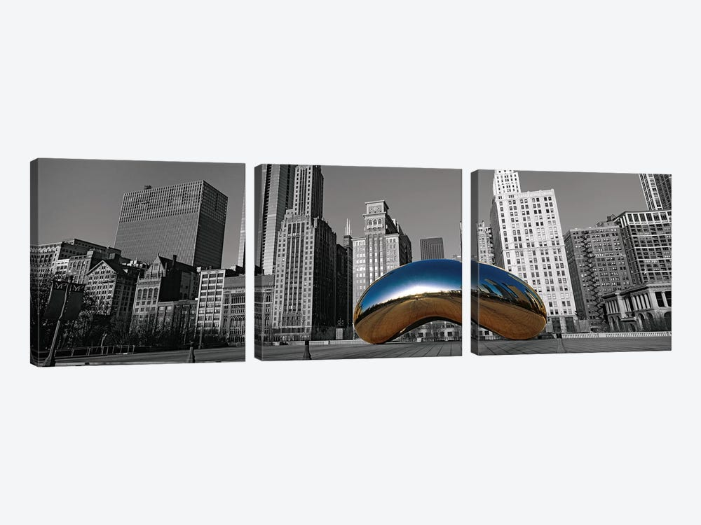 Cloud Gate Chicago Color Pop #2 by Panoramic Images 3-piece Canvas Art Print