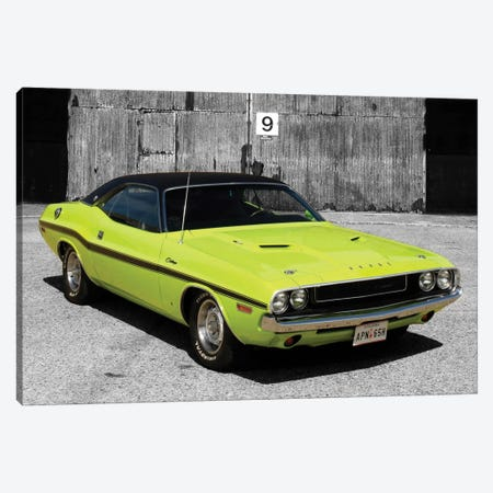 1970 Dodge Challenger Color Pop Canvas Print #ICA1187} by Unknown Artist Canvas Print