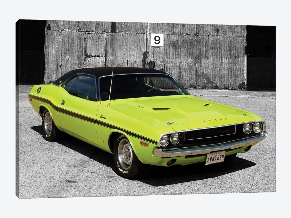 1970 Dodge Challenger Color Pop 1-piece Canvas Print
