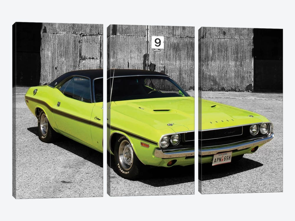 1970 Dodge Challenger Color Pop 3-piece Canvas Print