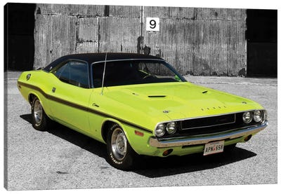 1970 Dodge Challenger Color Pop Canvas Art Print