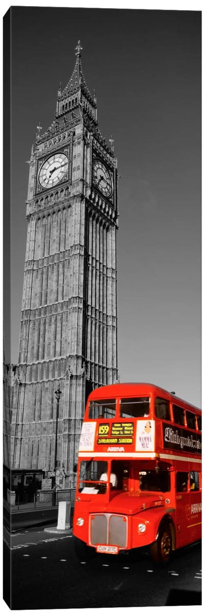 Big Ben, London, United Kingdom Color Pop Canvas Print #ICA1188