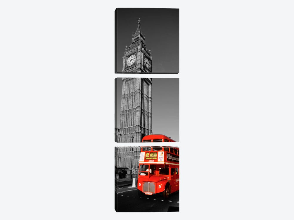 Big Ben, London, United Kingdom Color Pop by Panoramic Images 3-piece Canvas Wall Art