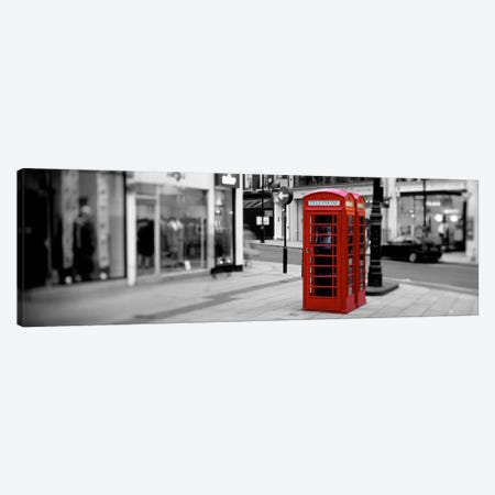 Phone Booth, London, England, United Kingdom Color Pop Canvas Print #ICA1193} by Panoramic Images Canvas Print