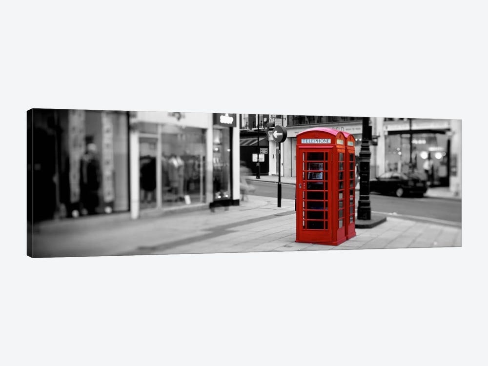 Phone Booth, London, England, United Kingdom Color Pop by Panoramic Images 1-piece Canvas Artwork