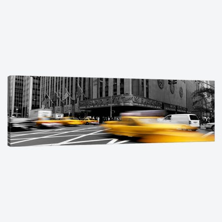 Cars in front of a building, Radio City Music Hall, New York City, New York State, USA Color Pop Canvas Print #ICA1194} by Panoramic Images Canvas Art