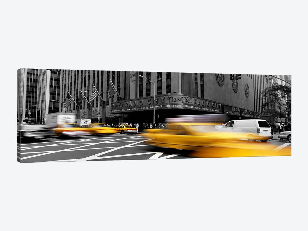 Cars in front of a building, Radio City Music Hall, New York City, New York State, USA Color Pop 1-piece Canvas Print