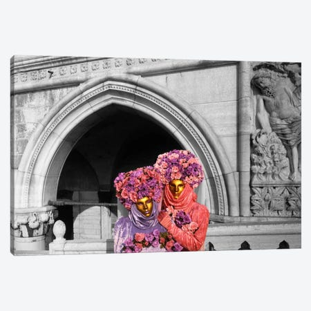 Italy, Venice, Palazzo Ducale, masquerade Color Pop Canvas Print #ICA1195} by Panoramic Images Canvas Art
