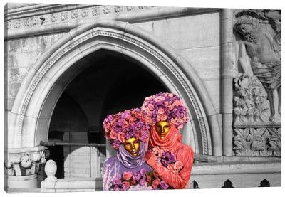 Italy, Venice, Palazzo Ducale, masquerade Color Pop Canvas Print #ICA1195