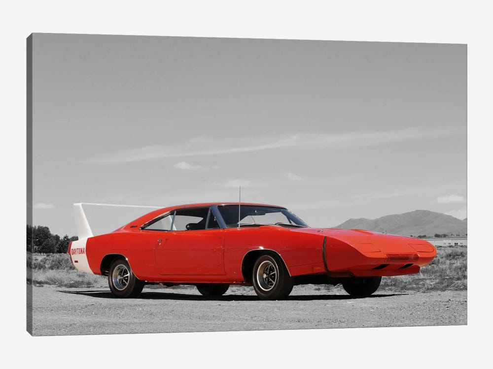 1969 Dodge Charger Daytona Color Pop by Unknown Artist 1-piece Art Print