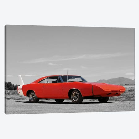 1969 Dodge Charger Daytona Color Pop Canvas Print #ICA1196} by Unknown Artist Canvas Wall Art