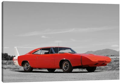 1969 Dodge Charger Daytona Color Pop Canvas Art Print