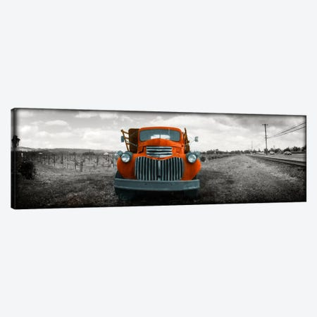 Old truck in a field, Napa Valley, California, USA Color Pop Canvas Print #ICA1197} by Panoramic Images Canvas Art