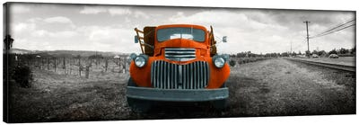Old truck in a field, Napa Valley, California, USA Color Pop Canvas Art Print