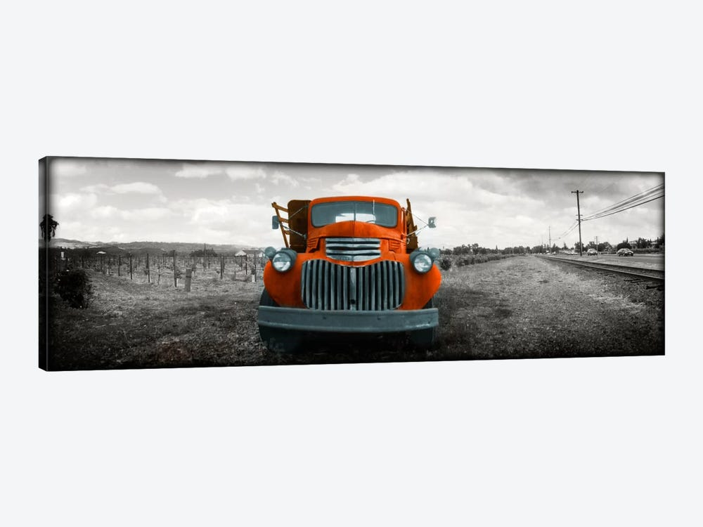 Old truck in a field, Napa Valley, California, USA Color Pop by Panoramic Images 1-piece Canvas Art