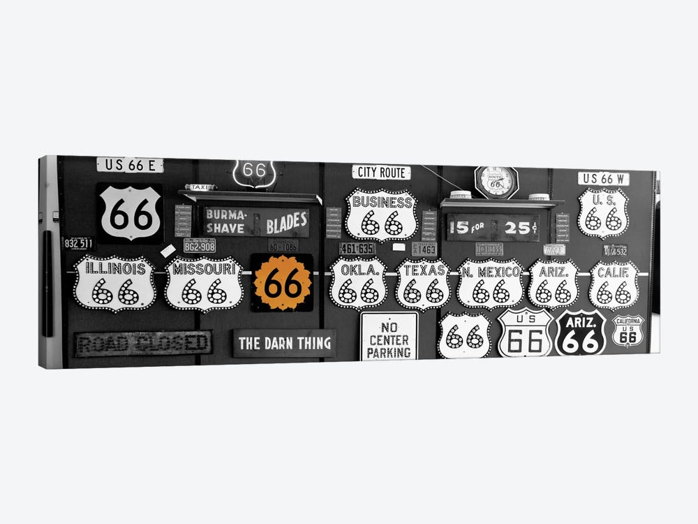 Route 66 Sign Collection Color Pop by Panoramic Images 1-piece Canvas Print