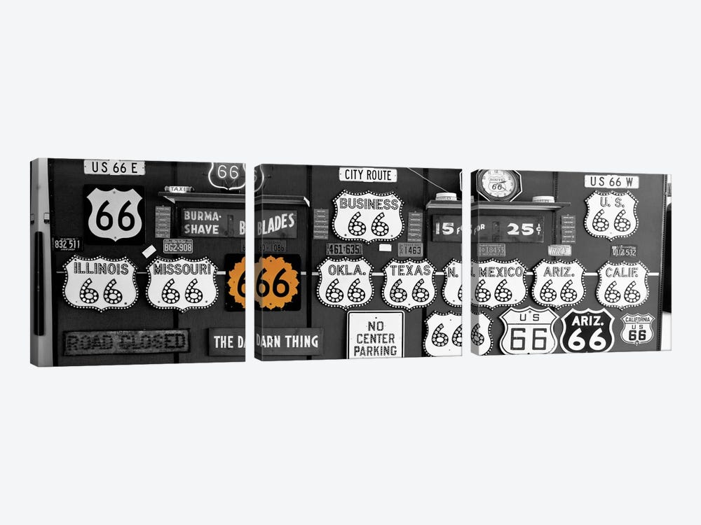 Route 66 Sign Collection Color Pop by Panoramic Images 3-piece Canvas Print