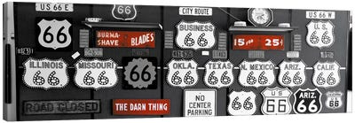 Route 66 Sign Collection Color Pop #2 Canvas Print #ICA1199