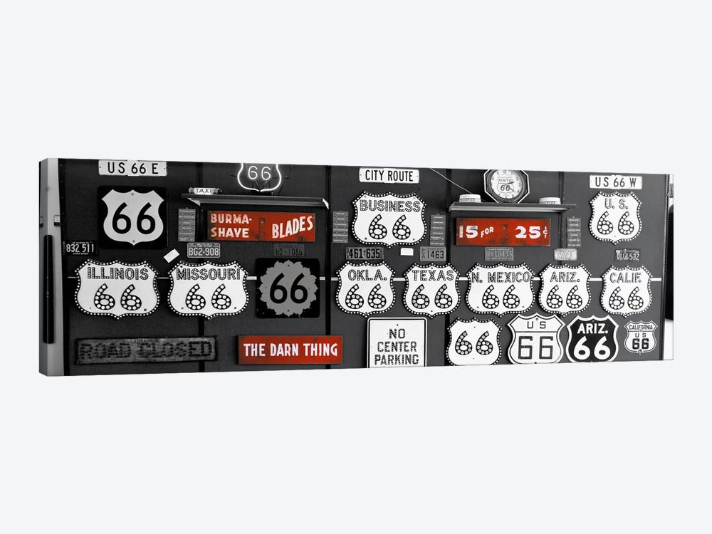 Route 66 Sign Collection Color Pop #2 by Panoramic Images 1-piece Canvas Art