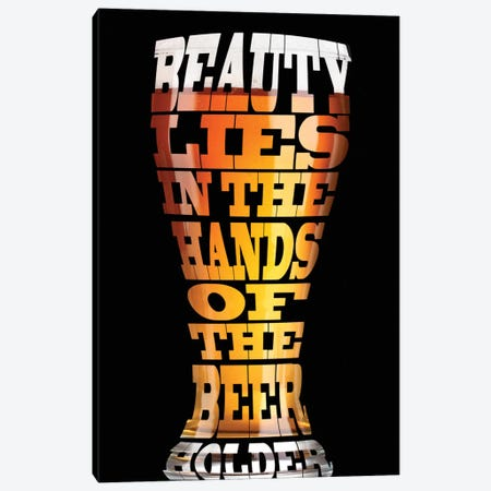 Beer Wisdom Canvas Print #ICA11} by Unknown Artist Canvas Art