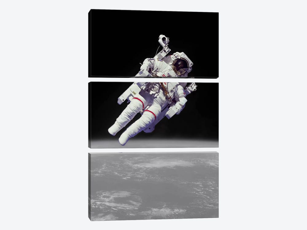 NASA Astronaut by Unknown Artist 3-piece Canvas Artwork