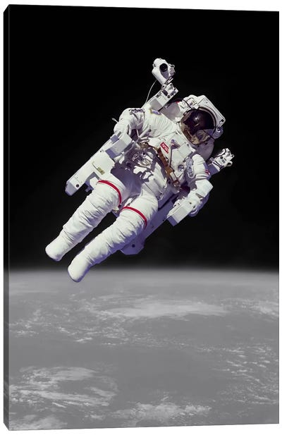 NASA Astronaut Canvas Art Print