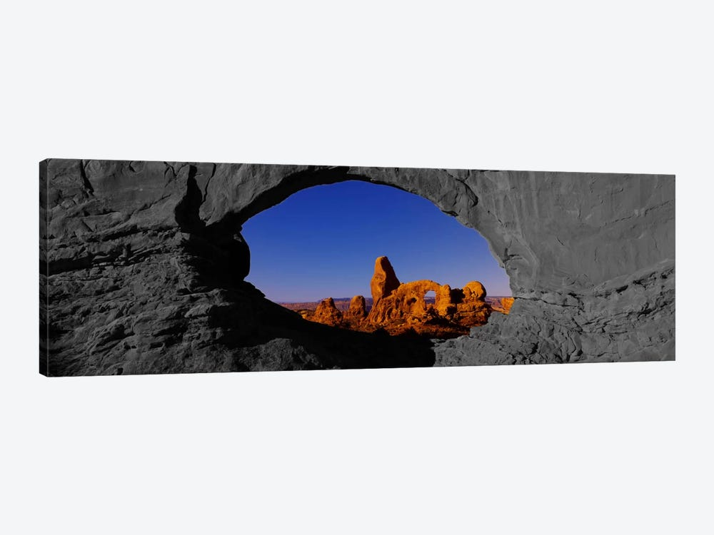 Natural arch on a landscape, Arches National Park Color Pop by Panoramic Images 1-piece Canvas Art