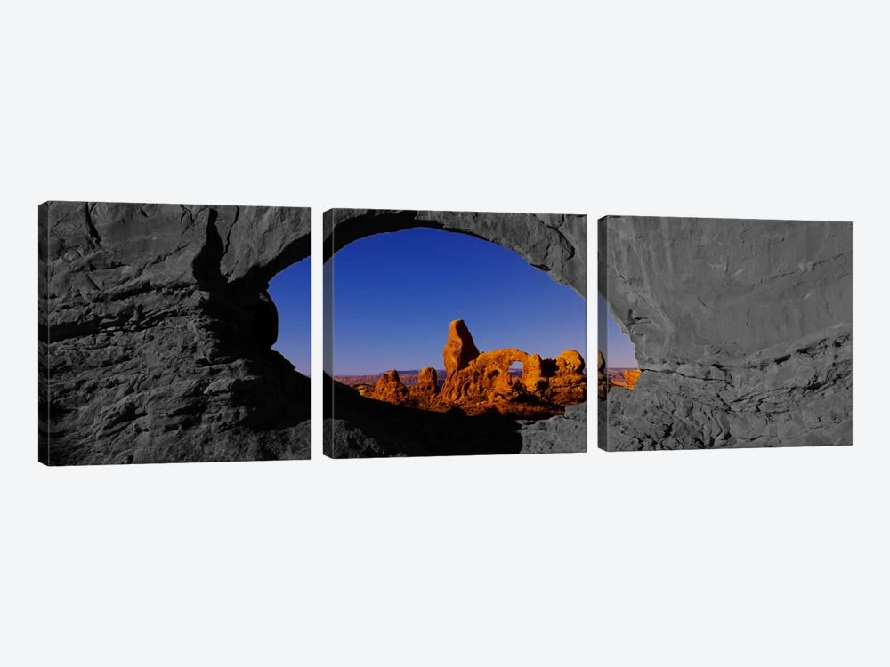 Natural arch on a landscape, Arches National Park Color Pop by Panoramic Images 3-piece Canvas Artwork
