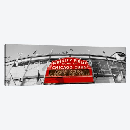 USAIllinois, Chicago, Cubs, baseball Color Pop Canvas Print #ICA1211} by Panoramic Images Canvas Wall Art