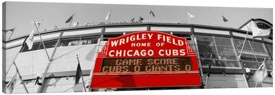 USAIllinois, Chicago, Cubs, baseball Color Pop Canvas Art Print