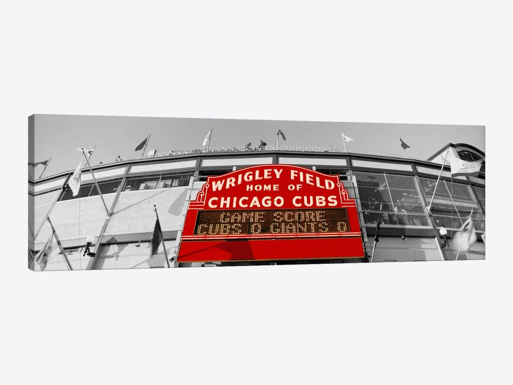 USAIllinois, Chicago, Cubs, baseball Color Pop by Panoramic Images 1-piece Canvas Artwork