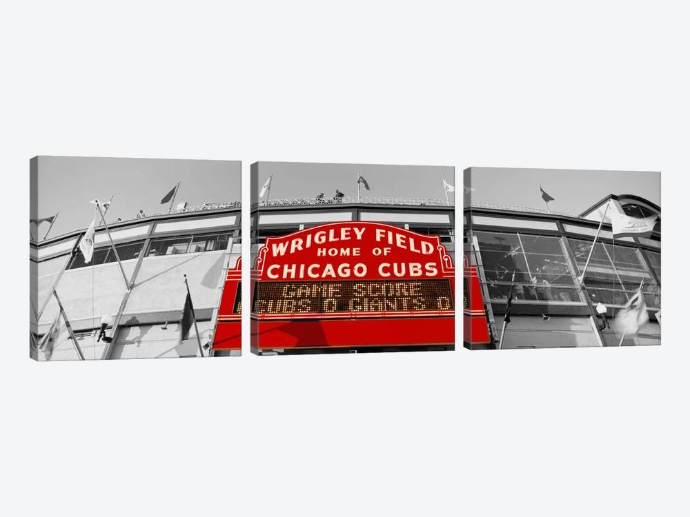 USAIllinois, Chicago, Cubs, baseball Color Pop by Panoramic Images 3-piece Canvas Art