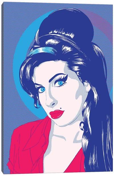 Amy Blue Eyes Color Pop Canvas Print #ICA1222