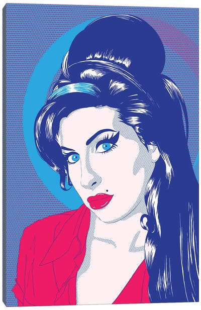 Amy Blue Eyes Color Pop Canvas Art Print