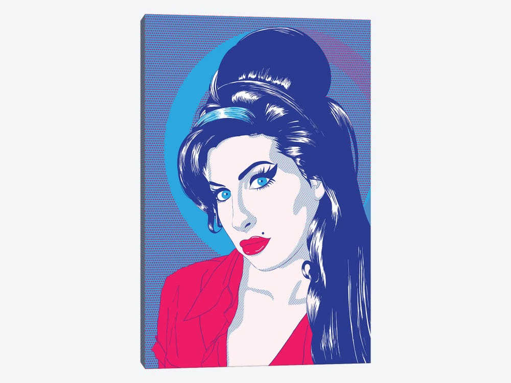 Amy Blue Eyes Color Pop by 5by5collective 1-piece Canvas Artwork