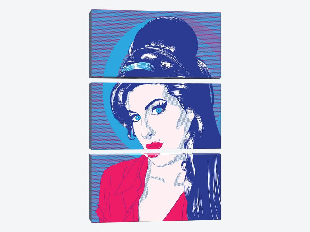 Amy Blue Eyes Color Pop 3-piece Canvas Wall Art
