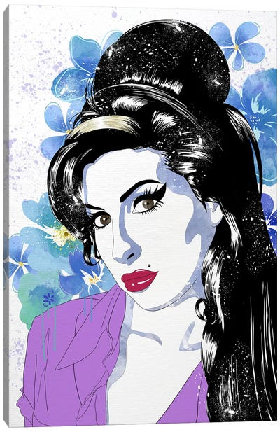 Amy Flower Color Pop Canvas Art Print