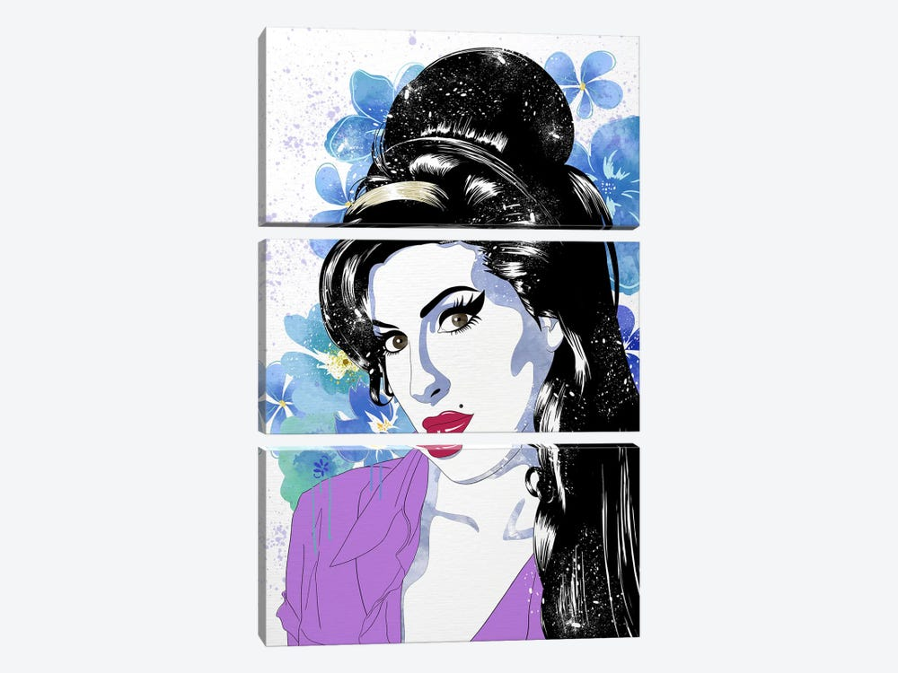 Amy Flower Color Pop by 5by5collective 3-piece Canvas Print