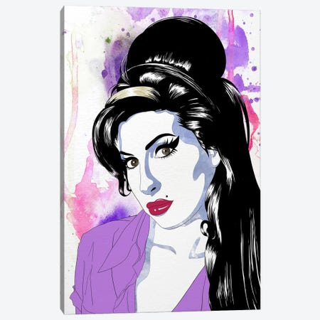 Amy Watercolor Pop Canvas Print #ICA1224} by 5by5collective Canvas Artwork