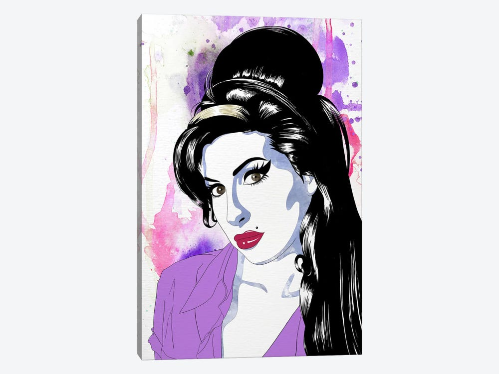 Amy Watercolor Pop by 5by5collective 1-piece Canvas Art