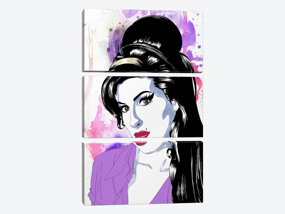 Amy Watercolor Pop by 5by5collective 3-piece Canvas Wall Art