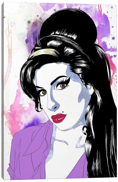 Amy Watercolor Pop Canvas Art Print