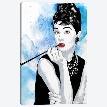 Audrey Watercolor Color Pop Canvas Print #ICA1227} by 5by5collective Canvas Wall Art