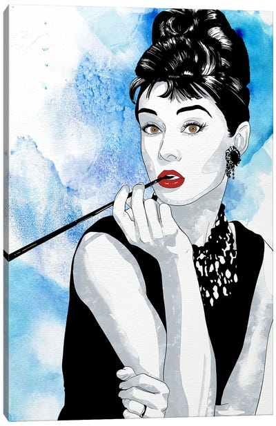 Audrey Watercolor Color Pop Canvas Art Print